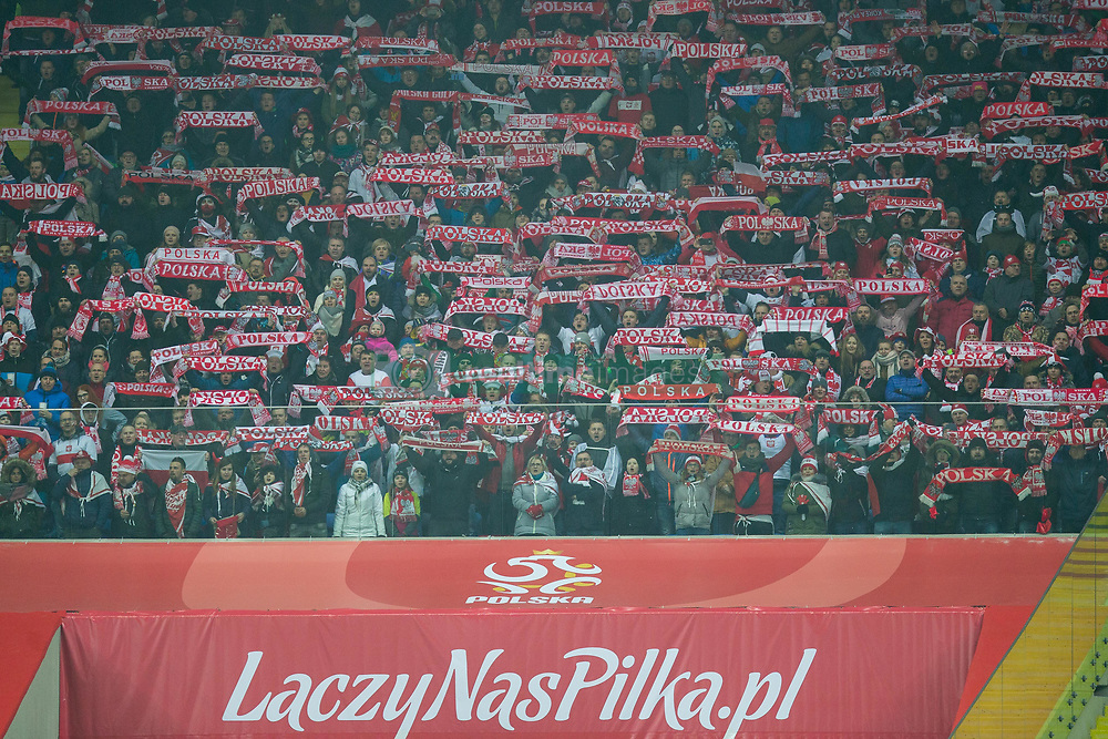 March 27, 2018 - Chorzow, Poland - Poland's fans during the international friendly soccer match between Poland and South Korea national football teams, at the Silesian Stadium in Chorzow, Poland on 27 March 2018. (Credit Image: © Foto Olimpik/NurPhoto via ZUMA Press)