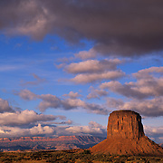 Mitchell Butte in Monument Valley Tribal Park on the Navajo Reservation, AZ.