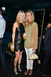 Left to right, MELISSA ODABASH and LADY VICTORIA HERVEY at a summer party hosted by Jo Wood & Yasmin Mills at Boujis, 43 Thurloe Street, London on 9th July 2014.