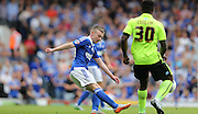 Ipswich Town striker Freddie Sears clears during the Sky Bet Championship match between Ipswich Town and Brighton and Hove Albion at Portman Road, Ipswich, England on 29 August 2015.