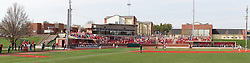 26 April 2014:   during an NCAA Division 1 Missouri Valley Conference (MVC) Baseball game between the Southern Illinois Salukis and the Illinois State Redbirds in Duffy Bass Field, Normal IL This image was produced in part utilizing High Dynamic Range (HDR) or panoramic stitching or other computer software manipulation processes. It should not be used editorially without being listed as an illustration or with a disclaimer. It may or may not be an accurate representation of the scene as originally photographed and the finished image is the creation of the photographer.