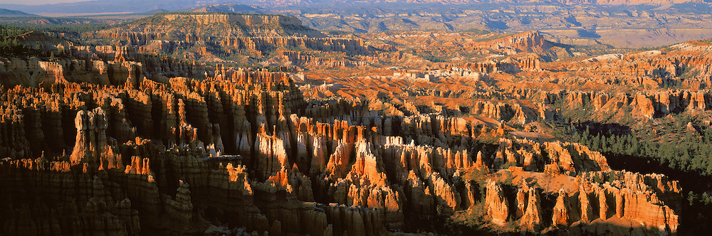 UTAH, BRYCE CANYON NAT. PARK view of the main amphitheatre with fanciful eroded sandstone formations as seen from Inspiration Pt. ,