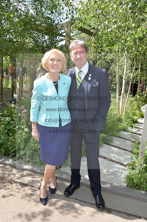MARY BERRY and ALAN TITCHMARSH at the 2016 RHS Chelsea Flower Show, Royal Hospital Chelsea, London on 23rd May 2016