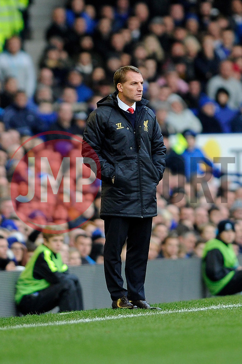 Liverpool Manager, Brendan Rodgers - Photo mandatory by-line: Dougie Allward/JMP - Tel: Mobile: 07966 386802 23/11/2013 - SPORT - Football - Liverpool - Merseyside derby - Goodison Park - Everton v Liverpool - Barclays Premier League