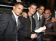 l to r: Shane Ward, Donnie Klang, Shawn Ward and Nole Marin at 'Spring on Mulberry Block Party'  celebration for Shane and Shawn Shoes sponsored by Bombay Sapphire and held at The Shane & Shawn Store in New York City on May 7, 2009