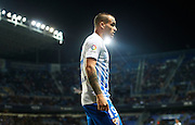 MALAGA, SPAIN - DECEMBER 09:  Sandro Ramirez of Malaga CF looks on during La Liga match between Malaga CF and Granada CF at La Rosaleda Stadium December 9, 2016 in Malaga, Spain.  (Photo by Aitor Alcalde Colomer/Getty Images)