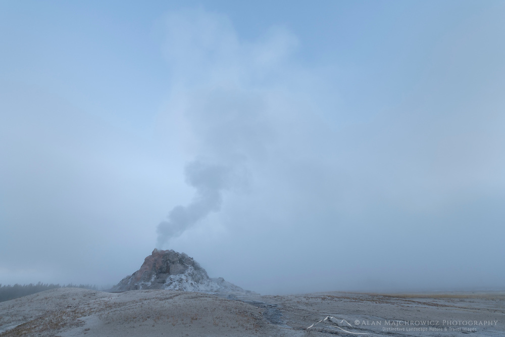White Dome Geyser Yellowstone National Park
