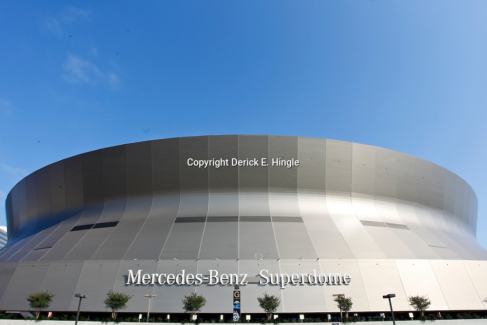 October 7, 2012; New Orleans, LA, USA; A general view outside before a Sunday night game between the New Orleans Saints and the San Diego Chargers at the Mercedes-Benz Superdome. Mandatory Credit: Derick E. Hingle-US PRESSWIRE