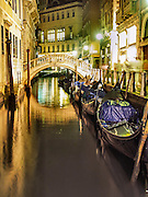 Venice Italy at night.