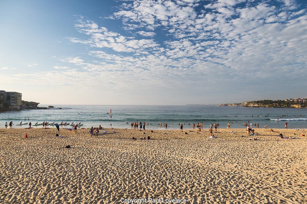 Bondi Beach in early morning light, Sydney, Australia.