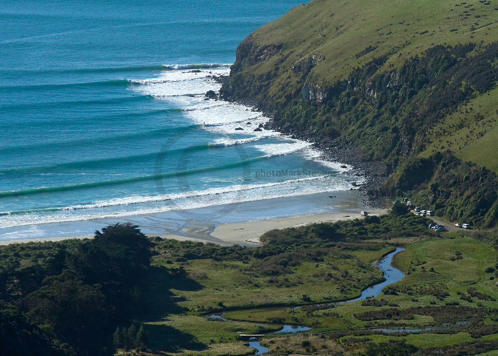 Surf break on the North Coast of Dunedin