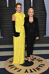 March 4, 2018 - Los Angeles, CA, U.S. - 04 March 2018 - Los Angeles, California - Sarah Paulson, Holland Taylor. 2018 Vanity Fair Oscar Party following the 90th Academy Awards held at the Wallis Annenberg Center for the Performing Arts. Photo Credit: Birdie Thompson/AdMedia (Credit Image: © Birdie Thompson/AdMedia via ZUMA Wire)
