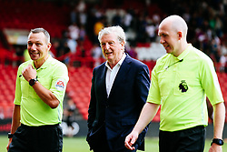 Crystal Palace manager Roy Hodgson and referee Kevin Friend (L) after a 0-5 win - Rogan/JMP - 27/07/2019 - Ashton Gate Stadium - Bristol, England - Bristol City v Crystal Palace - Pre-Season Friendly.