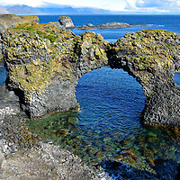 Gatklettur Arch Rock at Arnarstapi on Sn&aelig;fellsnes Peninsula, Iceland<br />