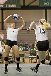 21 September 2013:  Erin Wachtel during an NCAA women's division 3 Volleyball match between the Lincoln Christian University Lady Lynx and the Illinois Wesleyan  University Titans in Shirk Center, Bloomington IL