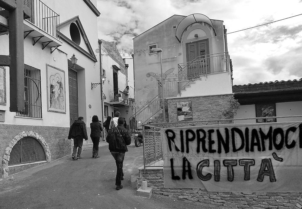 Danisinni neighborood a deprived suburb of Palermo..Danisinni quartiere periferico e degradato di Palermo.