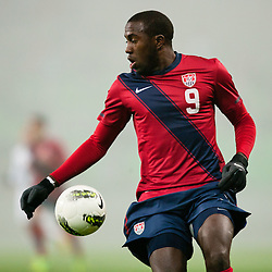 Jozy Altidore of USA during friendly football match between National teams of USA and Slovenia, on November 15, 2011 in SRC Stozice, Ljubljana, Slovenia.  (Photo By Matic Klansek Velej / Sportida.com)