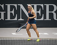 Dominika Cibulkova (SVK) during the semi finals of the WTA Generali Ladies Linz Open at TipsArena, Linz<br /> Picture by EXPA Pictures/Focus Images Ltd 07814482222<br /> 15/10/2016<br /> *** UK &amp; IRELAND ONLY ***<br /> <br /> EXPA-REI-161015-5012.jpg
