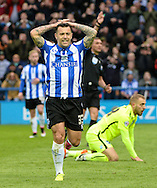 Ross Wallace of Sheffield Wednesday holds his head after his shot is saved during the Sky Bet Championship Playoff Semi Final First Leg at Hillsborough, Sheffield<br /> Picture by Richard Land/Focus Images Ltd +44 7713 507003<br /> 13/05/2016
