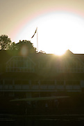 Henley on Thames, Sun raising over the back of Leander Club as crews  Boat, an early morning training session on the River Thames at Henley 07/10/2006.  Photo, Peter Spurrier/Intersport-images]. Sun rising over Leander Club.
