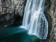 Rainbow Falls in Mammoth Lakes, California