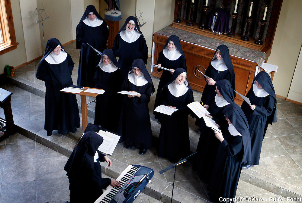 The Benedictines of Mary, Queen of the Apostles are cloistered nuns who have had four albums top the charts. They are releasing their latest album, Adoration at Ephesus, April 26, 2016.  The nuns recorded this album themselves, in their new chapel, in the quiet hills in Missouri where they farm, make vestments and spend their days in silence and prayer.