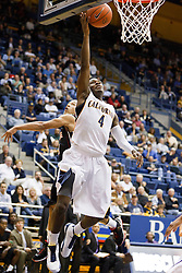 November 16, 2010; Berkeley, CA, USA;  California Golden Bears guard Gary Franklin (4) shoots against the Cal State Northridge Matadors during the first half at Haas Pavilion.