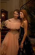 Dree Crisman and hon Lara Hughes-Young, Getting ready before the  Thirteenth Annual Crillon Haute Couture Ball. Paris,  29 November 2003. © Copyright Photograph by Dafydd Jones 66 Stockwell Park Rd. London SW9 0DA Tel 020 7733 0108 www.dafjones.com