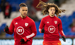 CARDIFF, WALES - Tuesday, November 19, 2019: Wales' Ethan Ampadu warms up ahead of the final UEFA Euro 2020 Qualifying Group E match between Wales and Hungary at the Cardiff City Stadium. (Pic by Laura Malkin/Propaganda)