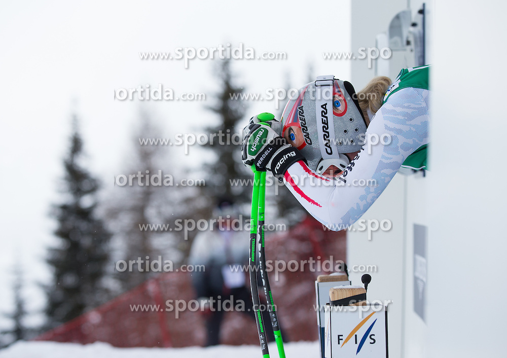 07.02.2013, Planai, Schladming, AUT, FIS Weltmeisterschaften Ski Alpin, 2. Training, Abfahrt, Damen, im Bild Andrea Fischbacher (AUT) // Andrea Fischbacher of Austria before 2nd practice of the ladies Downhill at the FIS Ski World Championships 2013 at the Planai Course, Schladming, Austria on 2013/02/07. EXPA Pictures © 2013, PhotoCredit: EXPA/ Johann Groder