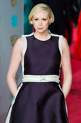 © Licensed to London News Pictures. 14/02/2016. London, UK. GWENDOLINE CHRISIE arrives on the red carpet at the EE British Academy Film Awards 2016 Photo credit: Ray Tang/LNP