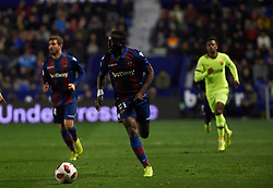 January 10, 2019 - Valencia, Valencia, Spain - Emmanuel Boateng of Levante UD and y of FC Barcelona during the Spanish Copa del Rey match between Levante and Barcelona at Ciutat de Valencia Stadium on Jenuary 10, 2019 in Valencia, Spain. (Credit Image: © AFP7 via ZUMA Wire)