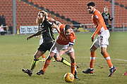 Bristol Rovers Midfielder, Stuart Sinclair (24) and Blackpool Midfielder, Jay Spearing (44) during the EFL Sky Bet League 1 match between Blackpool and Bristol Rovers at Bloomfield Road, Blackpool, England on 13 January 2018. Photo by Mark Pollitt.