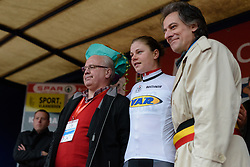 Lotte Kopecky is the best placed young rider at the 127 km Omloop van het Hageland on February 26th 2017, starting and finishing in Tielt Winge, Belgium. (Photo by Sean Robinson/Velofocus)