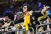 NEW ORLEANS, LA - NOVEMBER 13:  Fans of the New Orleans Saints yell to the officials during a game against the Denver Broncos at Mercedes-Benz Superdome on November 13, 2016 in New Orleans, Louisiana.  The Broncos defeated the Saints 25-23.  (Photo by Wesley Hitt/Getty Images) *** Local Caption ***