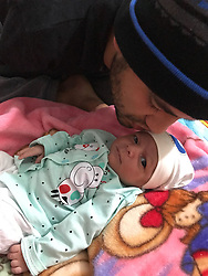 EXCLUSIVE: The man whose boyhood plight symbolised the suffering of the Iraq War has become a father for the first time. Ali Abbas, 27, lost both of his arms when two stray Allied bombs destroyed his home in Baghdad in 2003. Now, 15 years after narrowly escaping with his life, his wife Zainab, has given birth to the couple's first child, son Yusuf, born in Baghdad on January 23. Ali and his wife say they are both delighted at the birth of their first-born. 'He is the most precious gift.' Ali told the Dauly Mirror. The paper launched a mercy mission to bring Ali to the UK for treatment after readers raised tens of thousands of pounds to help his plight. He told the Mirror: 'In my darkest moments, I could never have imagined that I would become a father one day. Now Yusuf is my future, my family.'. 01 Mar 2018 Pictured: Ali Abbas and baby Yusuf. Photo credit: MEGA TheMegaAgency.com +1 888 505 6342