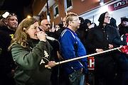 Frankfurt | 07 October 2016<br /> <br /> Am Freitag (07.10.2016) versammelten sich in Wetzlar etwa 80 Neonazis aus dem Umfeld der NPD, von neonazistischen Freien Kameradschaften, dem sog. Freien Netz Hessen und der Identit&auml;ren Bewegung zu einer Demonstration &quot;gegen &Uuml;berfremdung&quot;. Die geplante Demo-Route war von etwa 1600 Anti-Nazi-Aktivisten blockiert, daher wurde den Neonazis eine neue Demoroute durch Altstadt und Innenstadt von Wetzlar vorbei am Wetzlarer Dom zugewiesen. Auch hier stellten sich den Rechten immer wieder Aktivisten in den Weg.<br /> Hier: Die Neonazi-Aktivistin Melanie Dittmer aus Nordrhein-Westfalen h&auml;lt eine Rede.<br /> <br /> photo &copy; peter-juelich.com<br /> <br /> FOTO HONORARPFLICHTIG, Sonderhonorar, bitte anfragen!