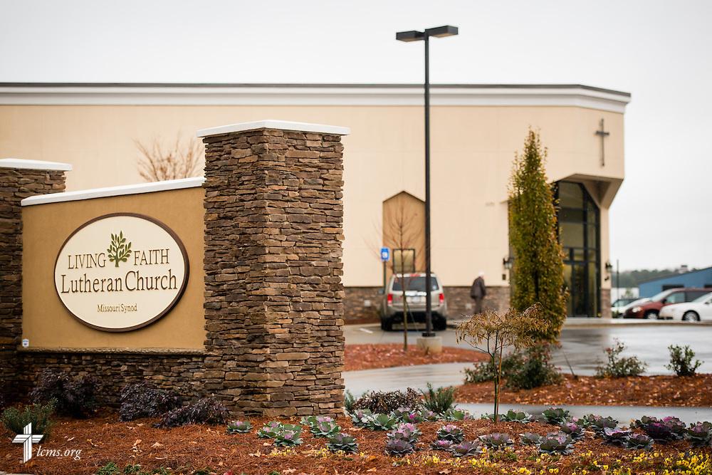 Exterior photograph on Sunday, Nov. 23, 2014, at Living Faith Lutheran Church in Cumming, Ga. LCMS Communications/Erik M. Lunsford