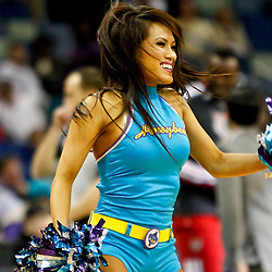 Dec 3, 2012; New Orleans, LA, USA; New Orleans Hornets Honeybees perform during the second half of a game against the Milwaukee Bucks at the New Orleans Arena. The Hornets defeated the Bucks 102-81.  Mandatory Credit: Derick E. Hingle-USA TODAY Sports
