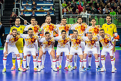 Team Spain during futsal match between Spain and Portugal in Final match of UEFA Futsal EURO 2018, on February 10, 2018 in Arena Stozice, Ljubljana, Slovenia. Photo by Ziga Zupan / Sportida