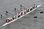 London, Great Britain.<br /> Women's MasE. Belfast RC IRE.<br /> 2016 Veterans&rsquo; Head of the River Race, Reverse Championship Course Mortlake to Putney. River Thames. Sunday  20/03/2016<br /> <br /> [Mandatory Credit: Peter SPURRIER;Intersport images]