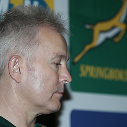 Ian Schwartz (Team Manager) of South Africa during Team announcement media conference with Springbok coach, Allister Coetzee, and Mixed zone media interviews at the team hotel (Umfolozi Room 2) Durban,South Africa. 15th June 2017(Photo by Steve Haag)