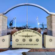 Dedication area at the B-29 All Veterans Memorial in at the Pratt Municipal Airport in Pratt, Kansas.