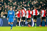 ROTTERDAM - 03-03-2016, Feyenoord - AZ, stadion de Kuip, teleurstelling, AZ speler Joris van Overeem na de 1-0 van Feyenoord speler Dirk Kuyt.
