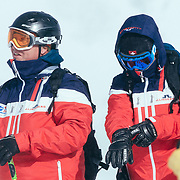 Frederick Rumford and Josh Lautenberg of Vail watch their competition.