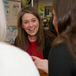 Pictured: Aileen Campbell<br /><br />Communities Secretary Aileen Campbell visited the Muirhouse Millennium Centre in Edinburgh today and met with support workers of the Low Income Families Together project as the latest update on tackling poverty was published.<br /><br />Ger Harley| EEm 20 December 2018