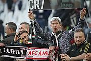 Juventus fans prior the Champions League match between Juventus FC and Ajax at Juventus Stadium, Turin, Italy on 16 April 2019.