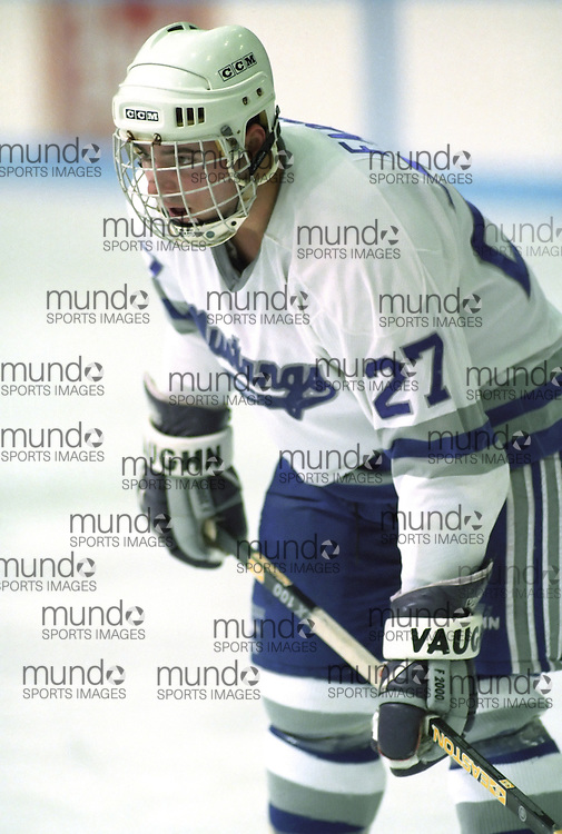 (February 2, 1995) University of Western Ontario Mustangs   hockey played at Thompson Arena in London, Ontario. Photograph copyright Sean Burges / Mundo Sport Images.