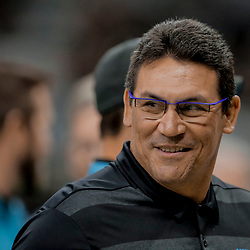Dec 30, 2018; New Orleans, LA, USA; Carolina Panthers head coach Ron Rivera against the New Orleans Saints prior to kickoff at the Mercedes-Benz Superdome. Mandatory Credit: Derick E. Hingle-USA TODAY Sports