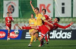 Dalibor Volas vs Mehmedalija Covic at 1st semifinal match of Pokal Hervis between NK Interblock and NK Maribor at  ZAK Stadium, on April 15, 2009, in Ljubljana, Slovenia.  (Photo by Vid Ponikvar / Sportida)